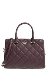 Kate Spade New York 'Emerson Place Olivera' Quilted Leather Satchel Brown Dark Mahogany