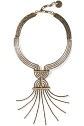 Lanvin Elvira Gold Tone Necklace