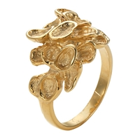 London Road 9Ct Yellow Gold Leaf Ring Size N
