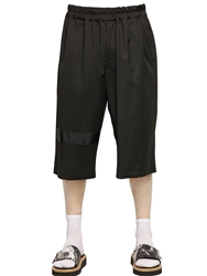 Xander Zhou Fluid Wool Shorts Black