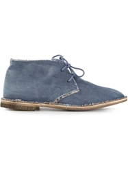 Le Crown Distressed Trim Desert Boot Blue
