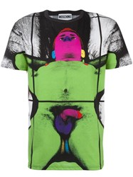 Moschino Gilbert And George Print T Shirt