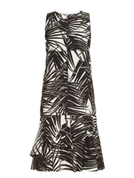 Marc Jacobs Palm Print Sleeveless Cotton Poplin Dress