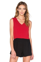Bishop Young Rosie Deep V Neck Top Red