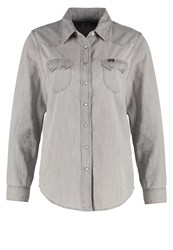 Lee Regular Western Shirt Water Grey Grey Denim