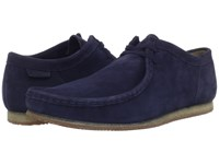 Clarks Wallabee Run Navy Nubuck Men's Lace Up Casual Shoes Blue