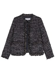 Gerard Darel Tartan Jacket Navy Blue
