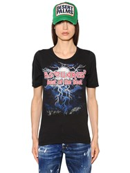 Dsquared Printed Cotton Jersey T Shirt