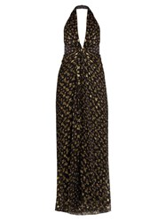 Diane Von Furstenberg Evelina Dress Black Gold