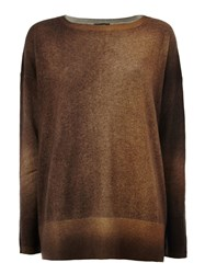 Avant Toi Two Tone Sweater Brown