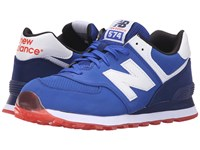 New Balance Ml574 Blue Red 2 Men's Shoes