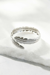 Urban Outfitters Leaf Armband Silver