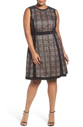 Adrianna Papell Plus Size Women's Lace Fit And Flare Dress