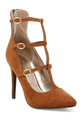 Oppo Lydia Mary Jane Pump Brown