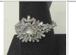 Suzanne Kalan Ooak White Gold Diamond Baguette Ring Silver