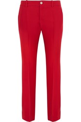 Gucci Wool And Silk Blend Crepe Flared Pants