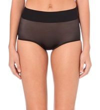 Wolford Sheer Touch High Rise Control Briefs Black