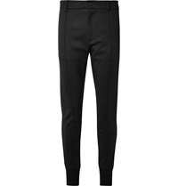 Dolce And Gabbana Slim Fit Stretch Virgin Wool Blend Trousers Black