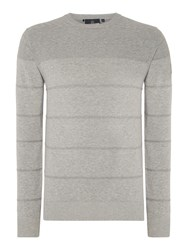 Duck And Cover Millar 2 Crew Neck Knitwear Light Grey Marl
