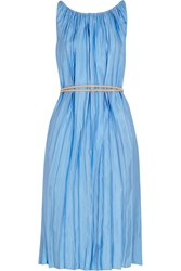 Nina Ricci Pleated Satin Twill Dress
