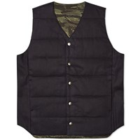 Spellbound Thinsulate Reversible Gilet Navy And Camo