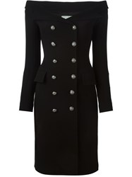 Faith Connexion Double Breasted Fitted Dress Black