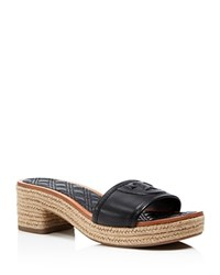 Tory Burch Fleming Platform Slide Sandals Black