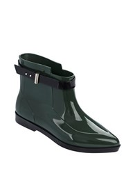 Melissa Francoise And Jason Wu Ankle Boots Green Black