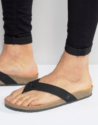 Original Penguin Toe Post Sandals Black