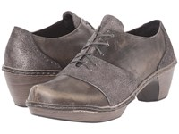 Naot Footwear Besalu Gray Shimmer Leather Vintage Gray Leather Women's Shoes