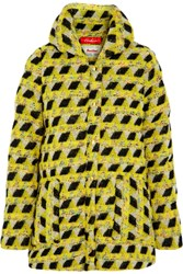 Finds Coohem Padded Down Tweed Coat Yellow