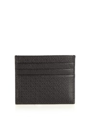 Tod's Embossed Leather Cardholder Black