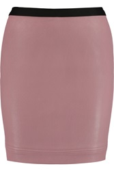 Helmut Lang Stretch Leather Mini Skirt Pink