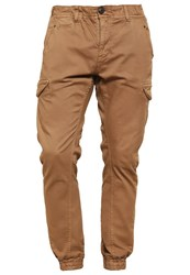 Petrol Industries Cargo Trousers Dark Tobacco Camel