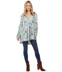 Free People Just The Two Of Us Tunic Blue Women's Clothing