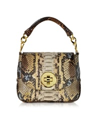 Ghibli Mini Python Crossbody Bag W Detachable Shoulder Strap Brown
