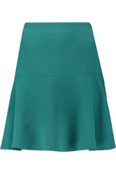 Raoul Marleen Stretch Crepe Mini Skirt Forest Green