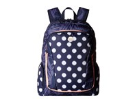 Roxy Alright Backpack Small Ikat Dots Combo Peacoat Backpack Bags Navy