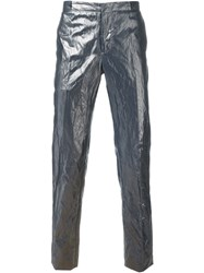 Etro Metallic Slim Trousers Grey