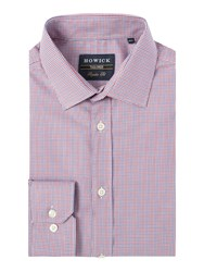 Howick Kedron Puppytooth Shirt Red