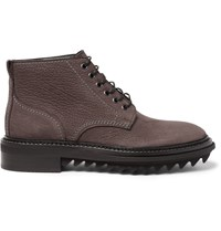 Lanvin Nubuck Boots Brown