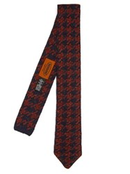 Missoni Wool Knit Tie Red Multi