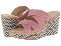 Hush Puppies Allie Dalten Rose Mist Nubuck Women's Wedge Shoes Pink