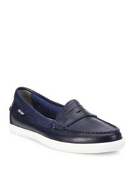 Cole Haan Pinch Weekender Leather Loafers Blazer Blue