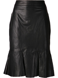 Moschino Cheap And Chic Leather Pencil Skirt