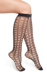 Oroblu Women's 'Gambaletto Lively' Lace Knee High Socks Black