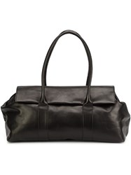 Yohji Yamamoto Oil Wax Boston Bag Black