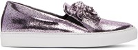 Versace Pink Metallic Slip On Sneakers