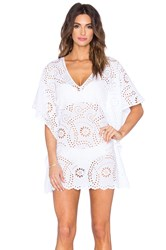 Vix Swimwear Lace V Neck Caftan White