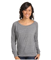 Alternative Apparel Eco Heather Slouchy Pullover Eco Grey Women's Long Sleeve Pullover Gray